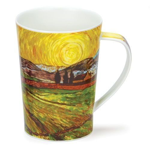 Dunoon Dunoon Argyll Impressionist Landscapes Mug - Enclosed Field with Rising Sun