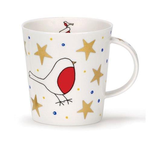Dunoon Lomond White Christmas Robin Mug