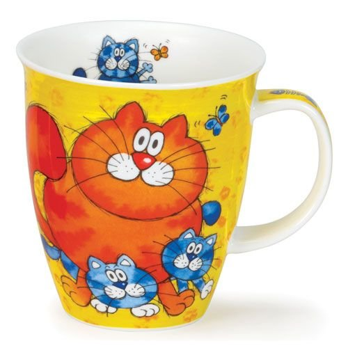 Dunoon Dunoon Nevis Yellow Cats and Kittens Mug