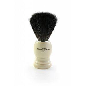 Edwin Jagger Black Fibre Shaving Brush, Plastic Ivory