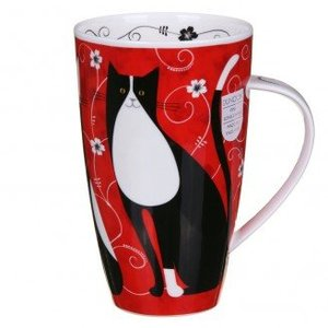 Dunoon Dunoon Henley Tall Tails Mug - Black & White