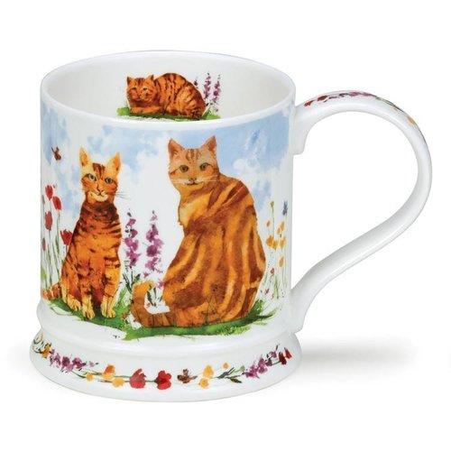 Dunoon Iona Garden Cats  Ginger Mug