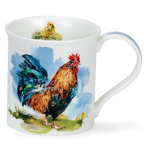 Dunoon Bute Green Cockerels Mug