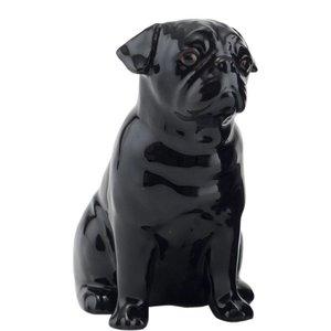 Quail Ceramics Quail Pug Figure (Black)