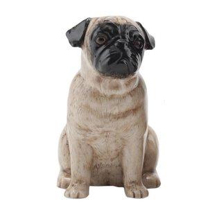 Quail Ceramics Quail Pug Figure (Fawn)