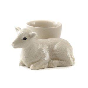 Quail Ceramics Quail Lamb with Egg Cup