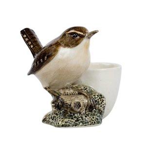 Quail Ceramics Quail Wren with Egg Cup