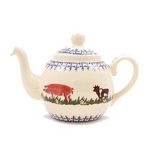 Brixton Pottery Farm Animals Teapot - 2 Cup