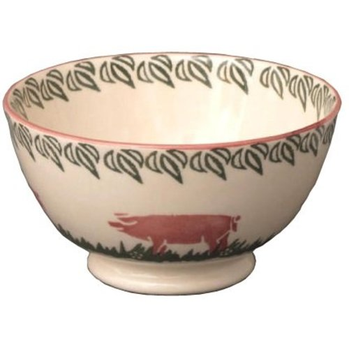 Brixton Pottery Pink Pigs Small Bowl