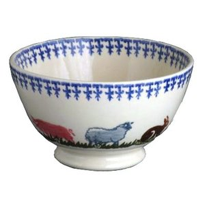 Brixton Pottery Farm Animals Soup Bowl