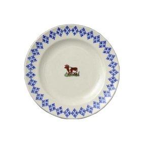 Brixton Pottery Cows Dessert Plate