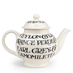 Emma Bridgewater Bridgewater Black Toast All Over 4 Cup Teapot
