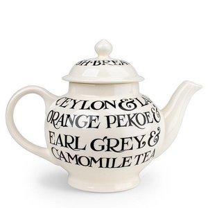 Emma Bridgewater Bridgewater Black Toast All Over 4 Cup Teapot
