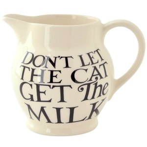 Emma Bridgewater Bridgewater Black Toast All Over 1/2 Pint Jug