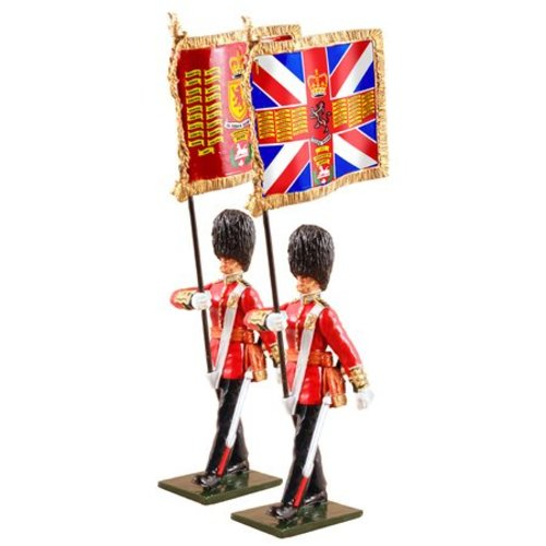 W. Britain 48017 - W. Britain Queen's Diamond Jubilee Set, Scottish Guards with Guard's Colors