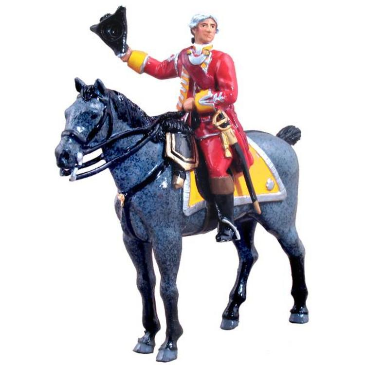 W. Britain 47034 - W. Britain British 35th Regiment of Foot, Mounted Officer, 1754-1763