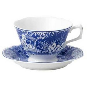 Royal Crown Derby Royal Crown Derby Mikado Blue Teacup & Saucer