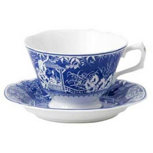 Royal Crown Derby Mikado Blue Teacup & Saucer