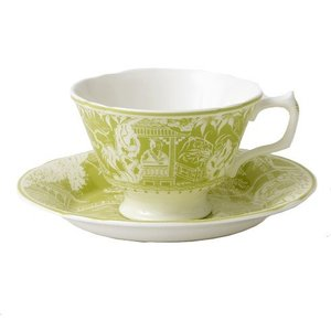 Royal Crown Derby Mikado Lime Teacup & Saucer