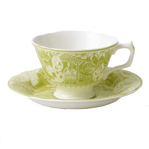 Royal Crown Derby Royal Crown Derby Mikado Lime Teacup & Saucer