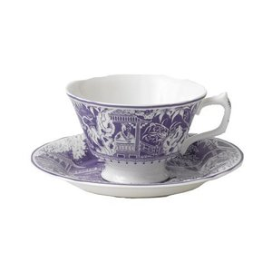 Royal Crown Derby Mikado Lavender Teacup & Saucer