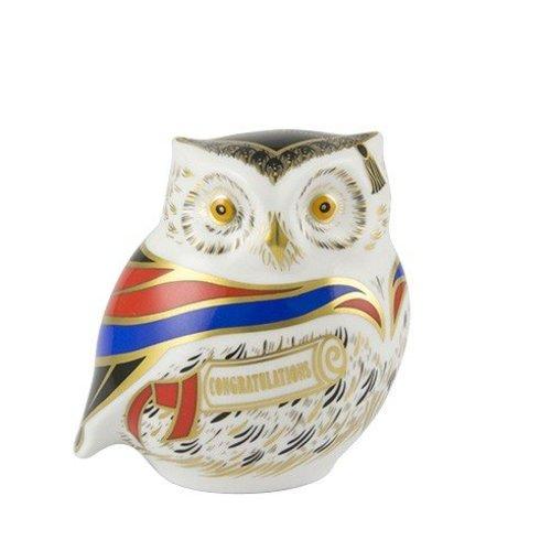 Royal Crown Derby Royal Crown Derby Wise Owl Paperweight