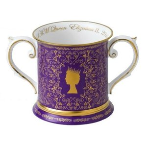 Hudson Middleton Queen's 90th Birthday Loving Cup/Double Handled Tankard