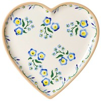 Nicholas Mosse Forget Me Not Heart Plate