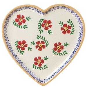 Nicholas Mosse Nicholas Mosse Old Rose Medium Heart Plate