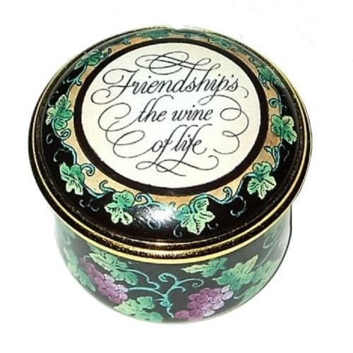 Halcyon Days Halcyon Days Friendship Is the Wine of Life Box