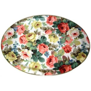 Keswick & Arnold Designs Service Trays Keswick & Arnold Designs Little Chelsea Oval Tray