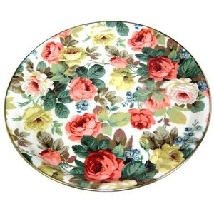 "Keswick & Arnold Designs Service Trays Keswick & Arnold Designs Little Chelsea 14"" Round Tray"
