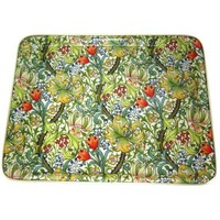 "Keswick & Arnold Designs Golden Lily Green 14""x11"" Rectangular Tray"