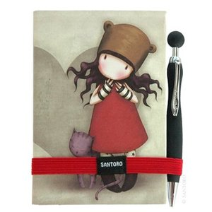 Santoro London Gorjuss Premium Journal with Pen - Purrrrfect Love