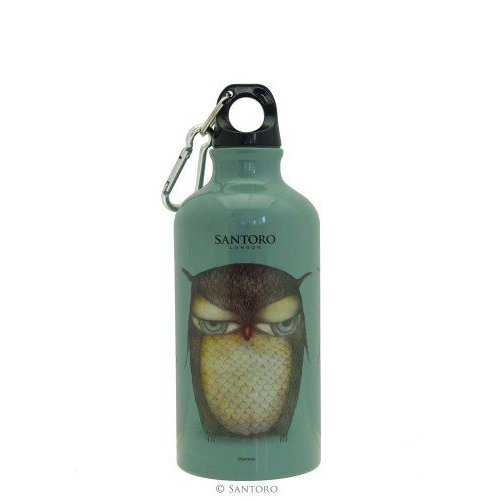 Santoro London Grumpy Owl Water Bottle