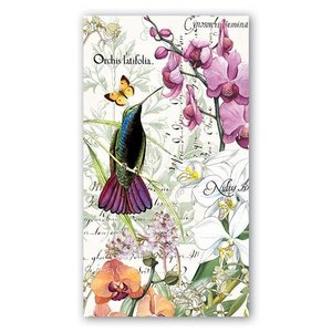 Michel Design Works Michel Orchids In Bloom Hostess Napkins