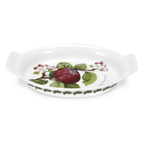 Portmeirion Pomona Oval Gratin Dish - Hoary Morning Apple