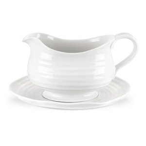 Portmeirion Portmeirion Sophie Conran White Gravy Boat and Stand