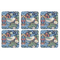 Pimpernel Strawberry Thief (Blue) Coasters