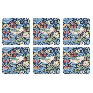 Pimpernel Pimpernel Strawberry Thief (Blue) Coasters