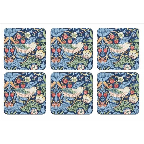 Pimpernel Pimpernel Strawberry Thief (Blue) Coasters