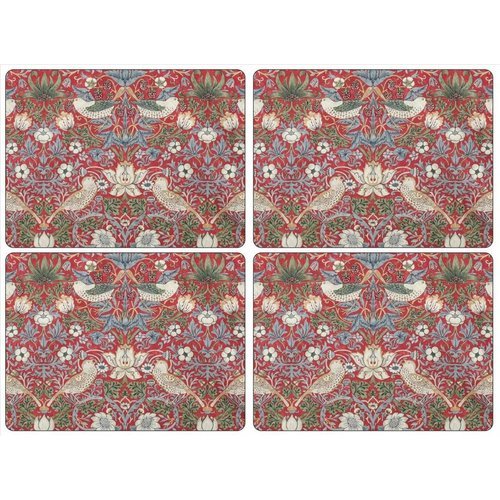 Pimpernel Pimpernel Strawberry Thief (Red) Placemats