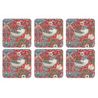 Pimpernel Strawberry Thief (Red) Coasters