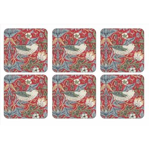 Pimpernel Pimpernel Strawberry Thief (Red) Coasters