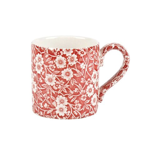Burleigh Pottery Calico Red 1/2 Pint Mug
