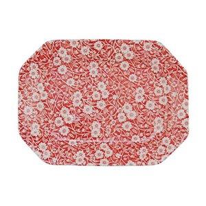 Burleigh Pottery Calico Red Rectangular Dish