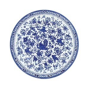 Burleigh Pottery Regal Peacock Blue 9 in. Plate
