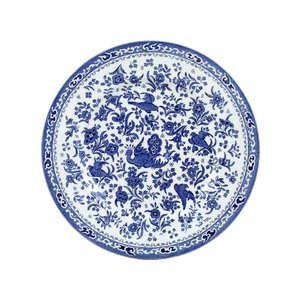 Burleigh Pottery Regal Peacock Blue 7 in. Plate