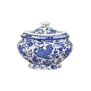 Burleigh Pottery Regal Peacock Blue Large Jam Pot