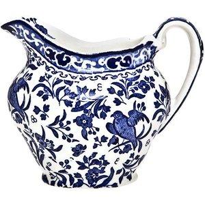 Burleigh Pottery Regal Peacock Blue Cream Jug